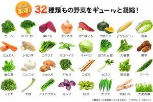 Danh sách 32 loại rau củ quả nguyên liệu của Viên rau củ DHC Nhật