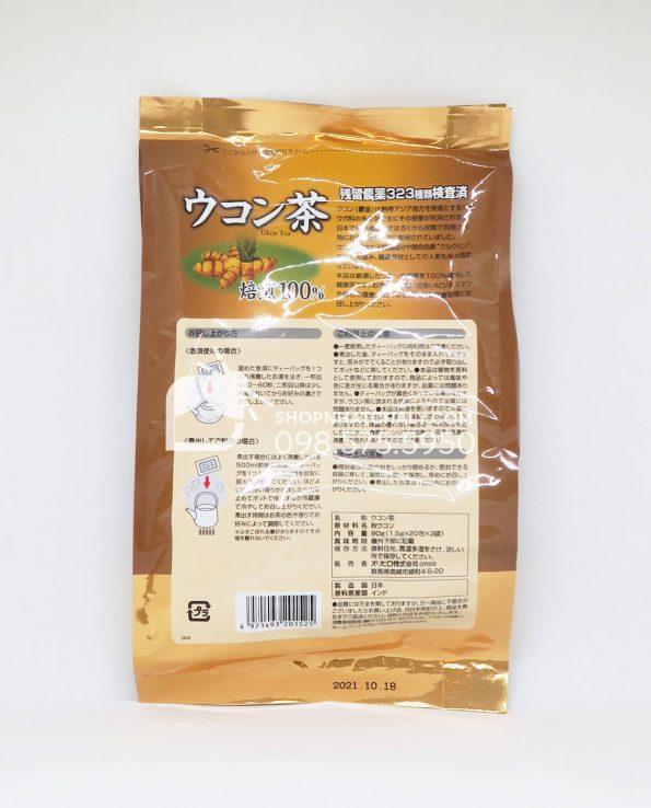 Trà nghệ giải độc gan Orihiro Ukon 60 gói Nhật Bản-thông tin sp