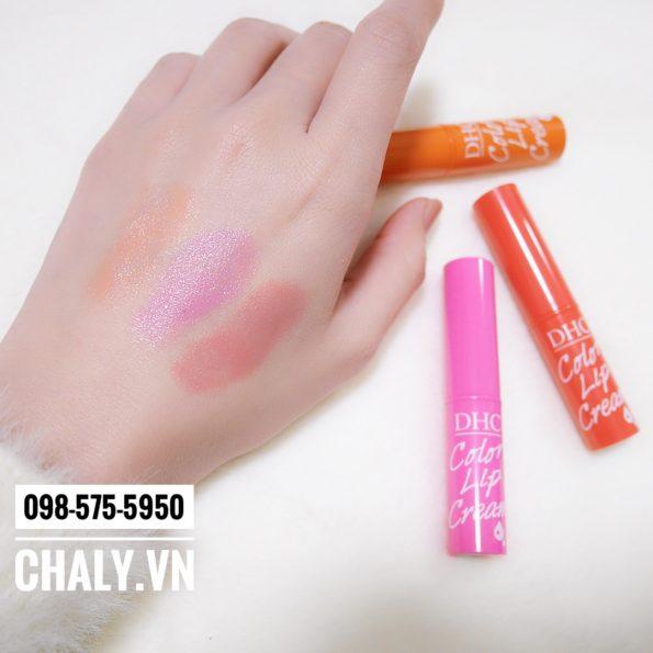 3 màu son DHC Color Lip Cream rất xinh xắn nhẹ nhàng. Độ dưỡng tốt
