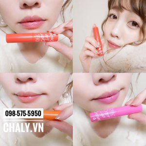 Son dưỡng màu DHC Color Lip Cream màu tươi tắn, lên rất xinh môi