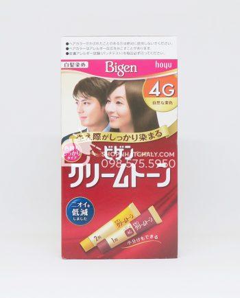 Thuốc nhuộm tóc phủ bạc thảo dược Bigen Hoyu Cream Tone 4G màu nâu sáng