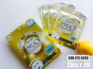 1 hộp mặt nạ thải độc của Nhật Bản gồm 3 miếng mặt nạ, có công dụng hút độc, tăng sức đề kháng, chống lão hoá trị viêm và mụn
