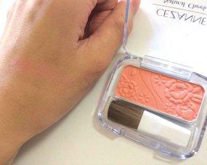 Phấn má Cezanne màu 10 Orange Pink hồng cam trẻ trung