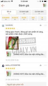 Sữa rửa mặt shirochasou review trên shopee của shop nhật chaly