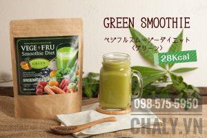 Bột giảm cân vege fru diet màu xanh lá cây làm từ xoài và dừa