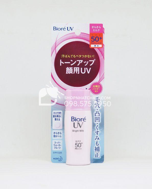 Kem chống nắng nâng tông Biore Perfect Bright Milk SPF50