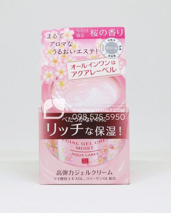 Kem dưỡng chống lão hoá Shiseido Aqualabel Special Gel Cream bản limited Sakura