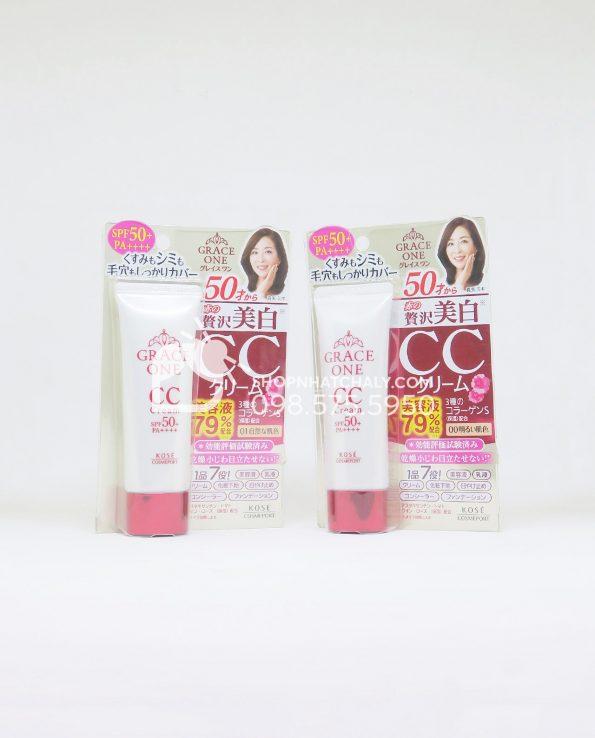 Kem nền cho tuổi trung niên Kose Grace One CC Cream Nhật Bản