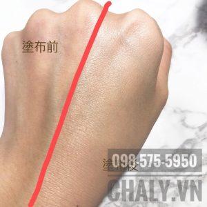 Review phấn nước cushion nhật bản MSH trên da mình: Trước và sau khi thoa. Da có độ bóng mịn hơn hẳn, bắt sáng, nhìn da sáng hơn, không còn xỉn. Che phủ tốt