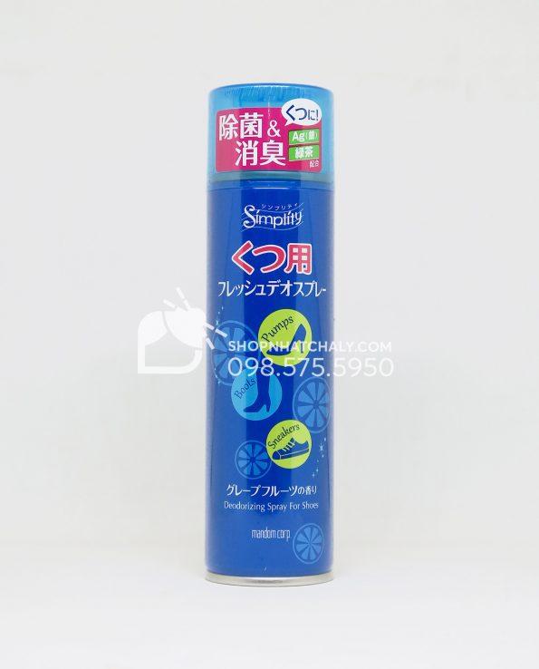 Xịt khử mùi giày tất Mandom Simplity Deodorant Shoe Spray Nhật Bản