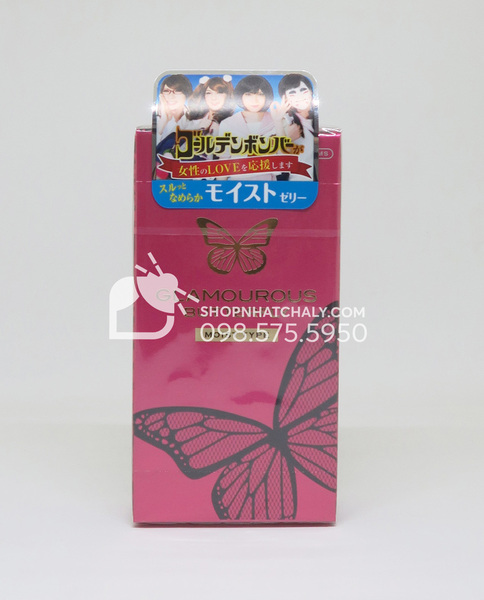 BCS Glamourous Butterfly Moist Jelly kết hợp gel bôi trơn dễ chịu cho bạn gái 6 chiếc