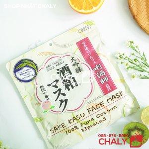 Mặt nạ sake 33 miếng của Nhật dạng túi lớn, giá lại cực mềm, dùng đắp hàng ngày vẫn rất tiết kiệm