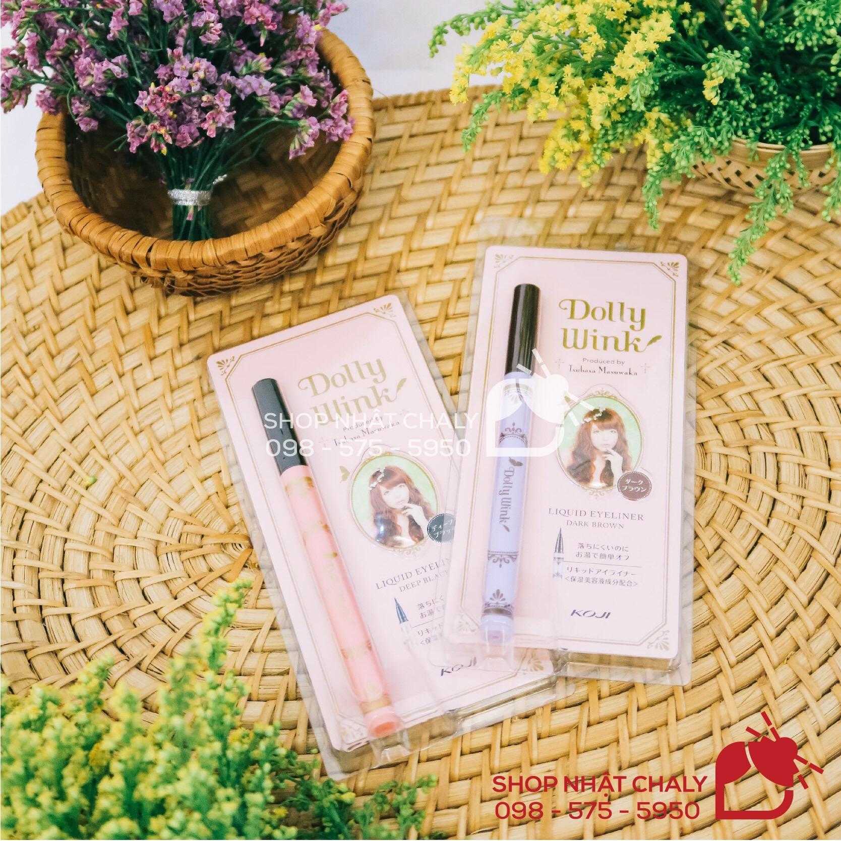 Bút kẻ mắt Dolly Wink Liquid Eyeliner là bút kẻ mắt được ưa chuộng hàng đầu Nhật Bản. Ưu điểm dễ dùng, ngay cả cho người mới tập trang điểm mắt