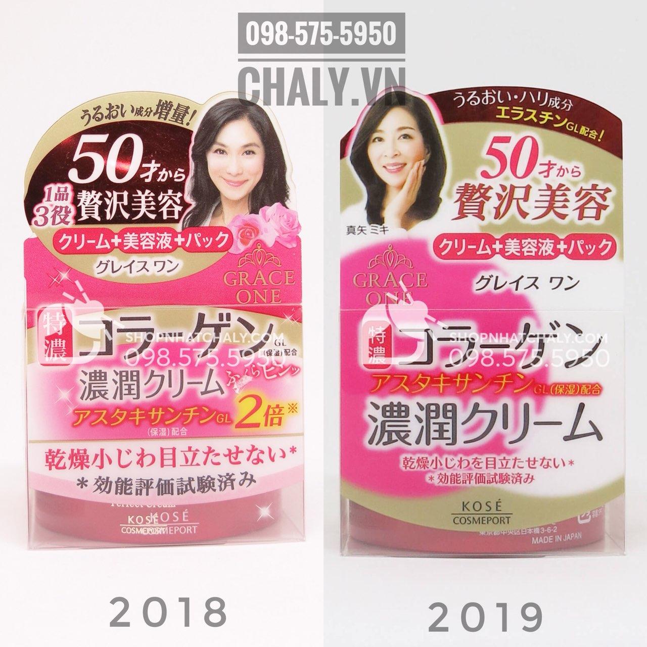 Kem dưỡng da cho người lớn tuổi kem grace one màu đỏ giảm nhăn da hiệu quả mẫu mới nhất 2019