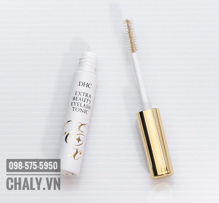 Là bản cải tiến, dưỡng mi DHC extra eyelash tonic chứa tới 9 thành phần dưỡng mi, kích mọc dài mi mà bản thường không có