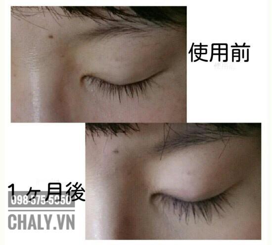 Review dưỡng mi dhc eyelash tonic extra beauty: Mới có 1 tháng mà cải thiện như này luôn. Quá đã
