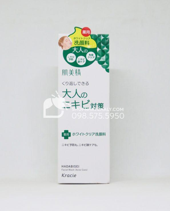 Sữa rửa mặt trị mụn và thâm mụn Kracie Hadabisei Acne Care Facial Wash
