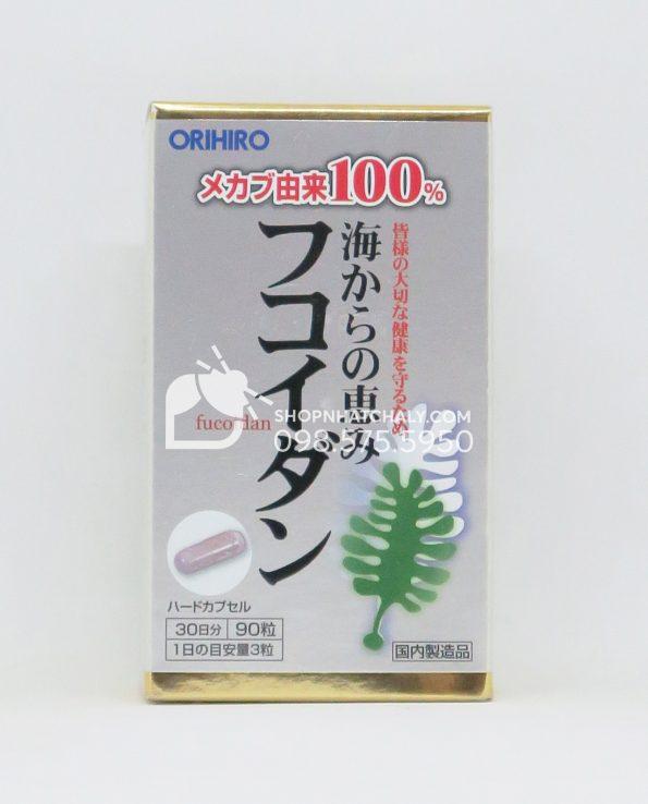 Viên tảo chống ung thư Orihiro Fucoidan 90 viên 30 ngày Nhật Bản