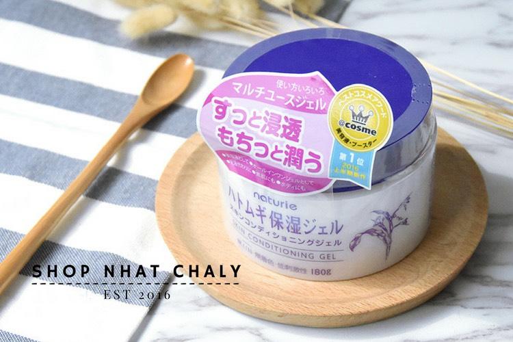 Kem dưỡng ẩm Naturie Gel giữ vị trí Số 1 Cosme trong nhiều năm liên tục, là kem dưỡng ẩm hạt ý dĩ bán chạy nhất tại Nhật