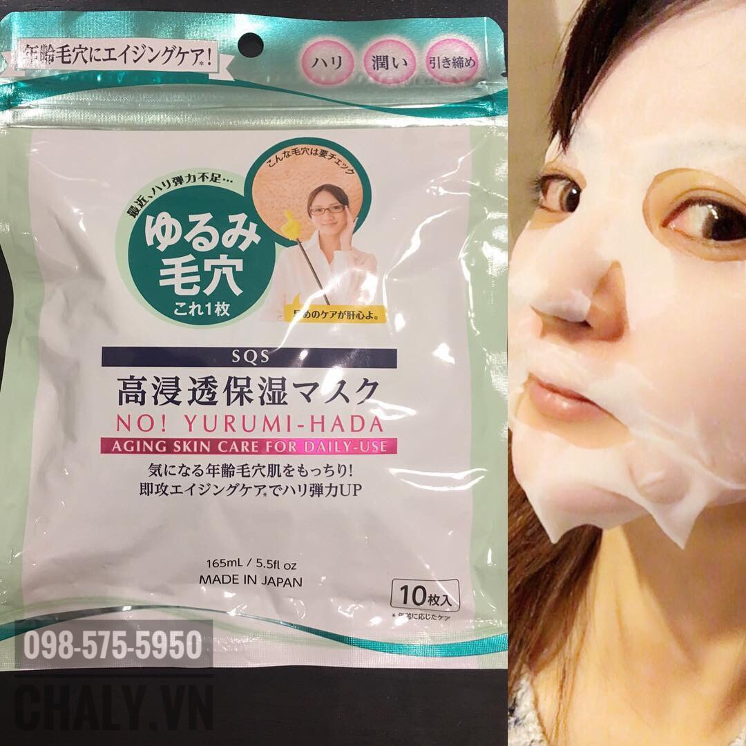 Một bạn gái Nhật review Mặt nạ se khít lỗ chân lông cho da nhờn SQS