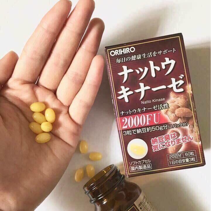 Viên chống đột quỵ Nhật Bản Orihiro 2000fu có dạng viên nang, không mùi vị, dễ uống, giúp tăng tuổi thọ, ngừa ung thư, chống tai biến