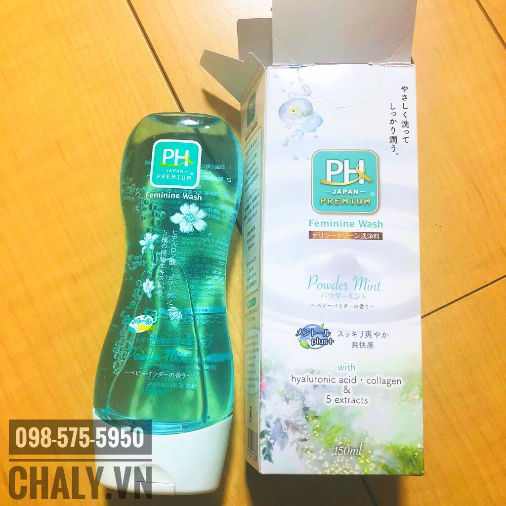 Dung dịch vệ sinh phụ nữ của nhật tốt nhất theo mình chính là pH Care powder mint màu xanh lá nha mọi người