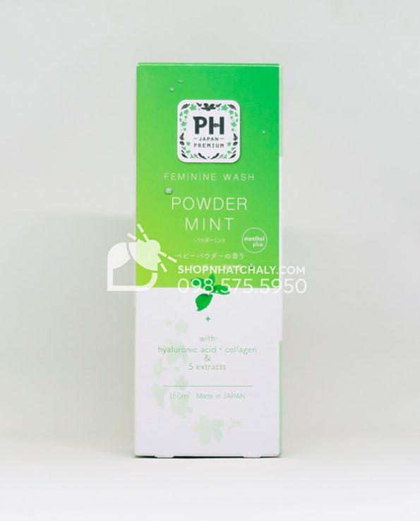 Dung dich ve sinh phu nu pH Care Nhat Ban Powder Mint mau moi 2021