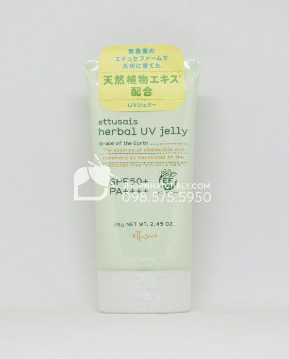 Kem chống nắng Ettusais Herbal UV Jelly SPF50 70g Nhật Bản