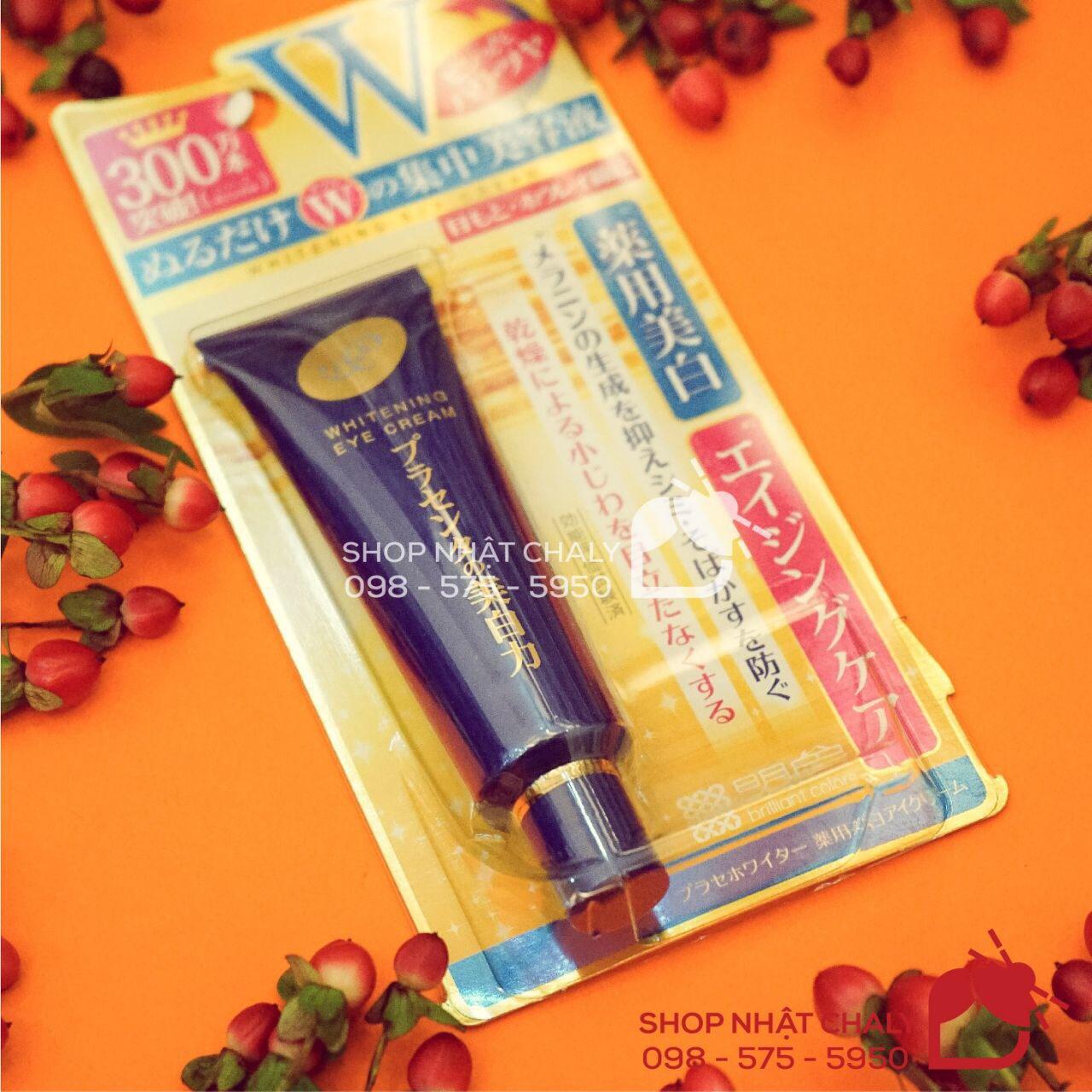 Tuýp kem mắt Meishoku whitening eye cream 30g lọt top kem dưỡng mắt của Nhật tốt nhất nhiều năm liền