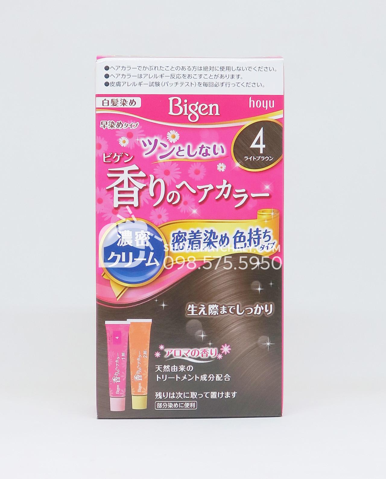 Thuốc nhuộm Bigen Nhật flavored màu số 4 = nâu sáng, light brown