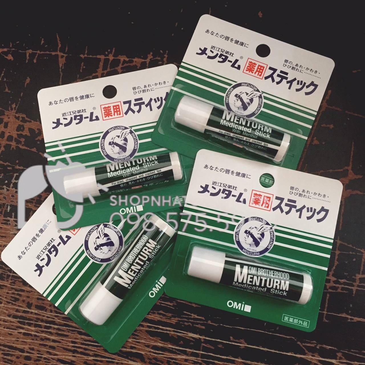 Review son dưỡng omi menturm: Giá siêu rẻ, hiệu quả gấp nhiều lần so với giá thành. Là son dưỡng môi Nhật đáng sở hữu nhất