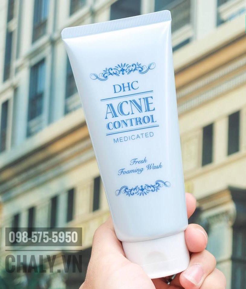 Sữa Rửa Mặt Trị Mụn DHC Acne Control Fresh Foaming Wash (120ml)