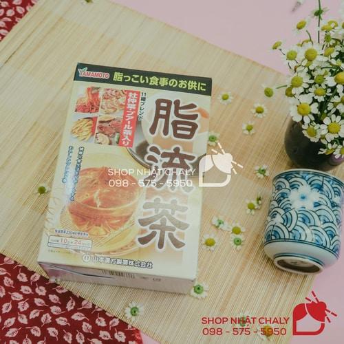 Trà giảm béo Yamamoto Nhật 24 gói là một trong những loại trà giảm cân tốt nhất hiện nay, với thành phần chính là chiết xuất đỗ trọng ngăn hấp thụ mỡ hiệu quả