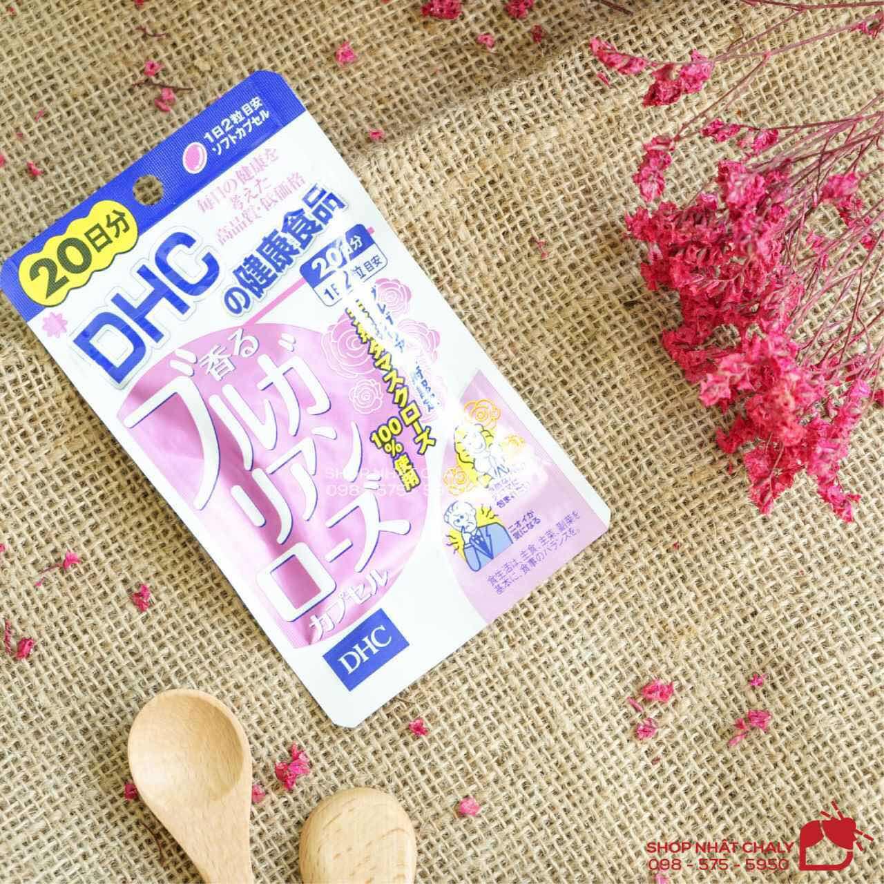 Viên uống thơm cơ thể rose oil xách tay DHC Nhật gói 40 viên 20 ngày