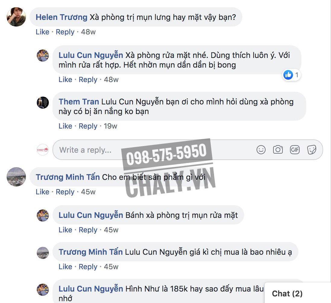 Review xà phòng trị mụn đầu đen Nhật Bản trên facebook Chaly