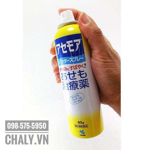 Xịt rôm Nhật dạng chai xịt tiện lợi, dễ dàng