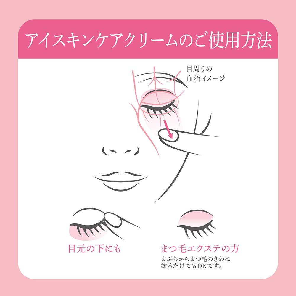 Mô tả cách sử dụng kem dưỡng mắt của Nhật kiêm kem dưỡng mi Nhật Mesiru Eyecare & Skincare