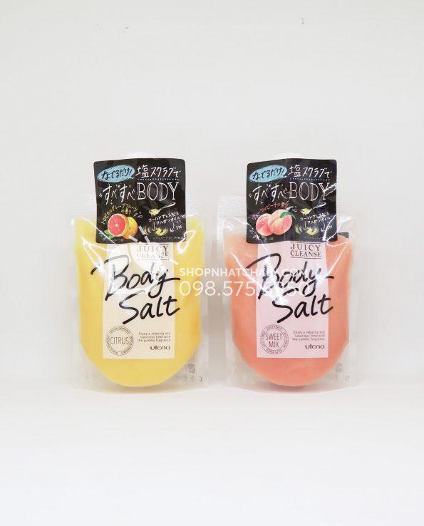 Muối tắm tẩy tế bào chết Utena Body Salt Juicy Cleanse Nhật Bản