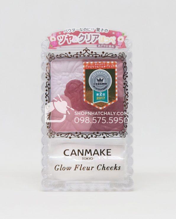 Phấn má hồng Canmake Glow Fleur Cheeks số 09 Burgundy Nhật Bản