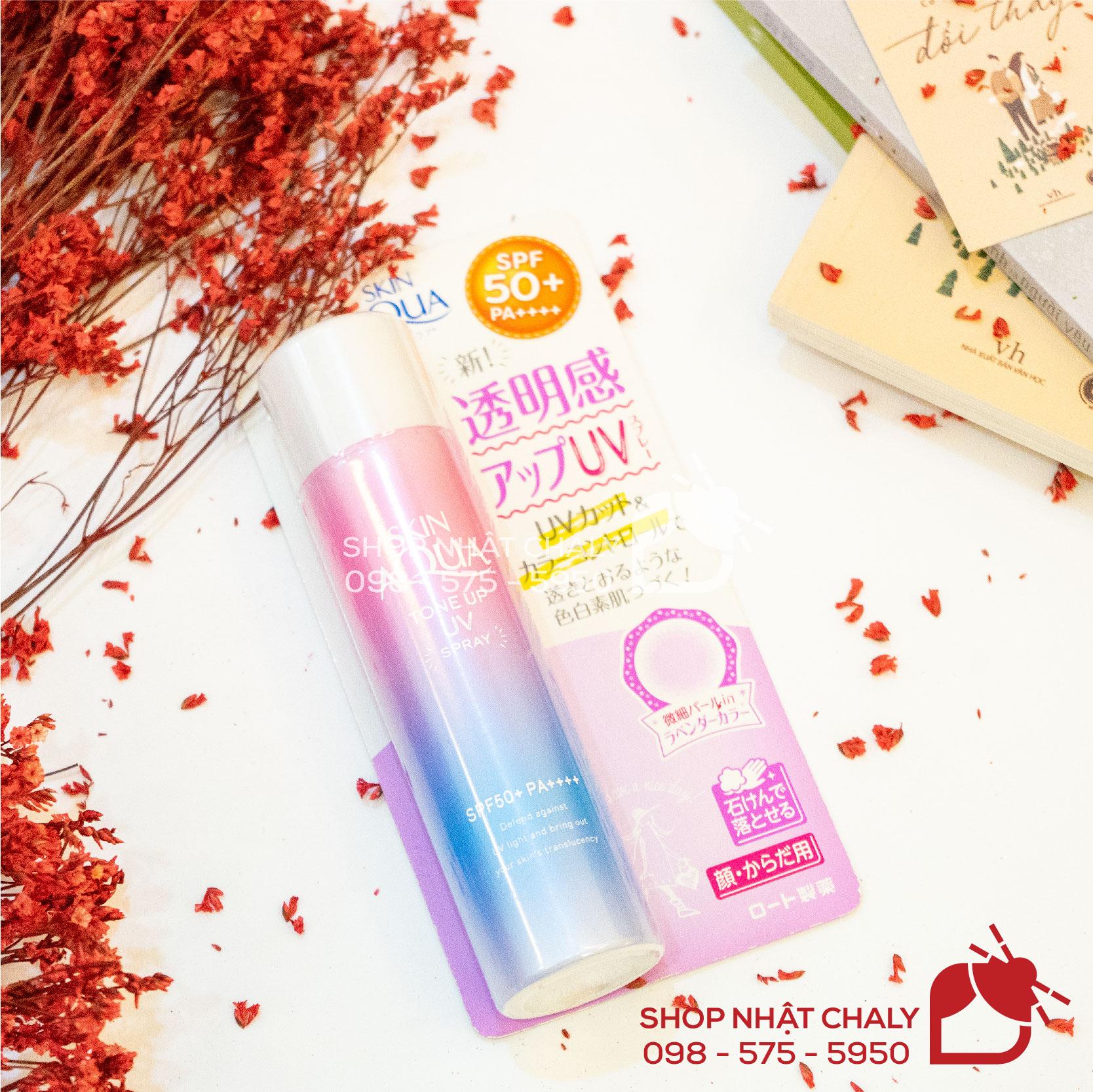 Kem chống nắng Skin Aqua tone up UV spray nội địa Nhật màu hồng dạng xịt là siêu phẩm số 1 Cosme không nên bỏ lỡ, đặc biệt với chị em da dầu mụn, nhờn, nhạy cảm