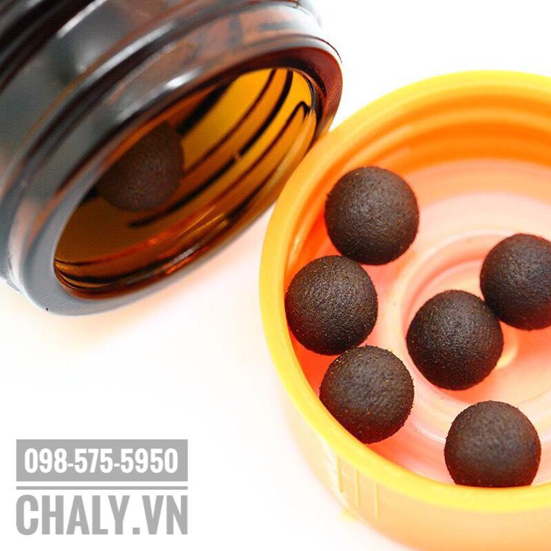 Thuốc trị đau bụng của Nhật Bản Seirogan 100 viên loa kèn có dạng viên mềm, màu nâu đen, thành phần 100% thảo dược đông y