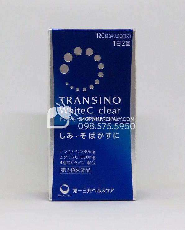 Viên uống trắng da trị nám Transino White C Clear Nhật Bản 120 viên mẫu mới 2019