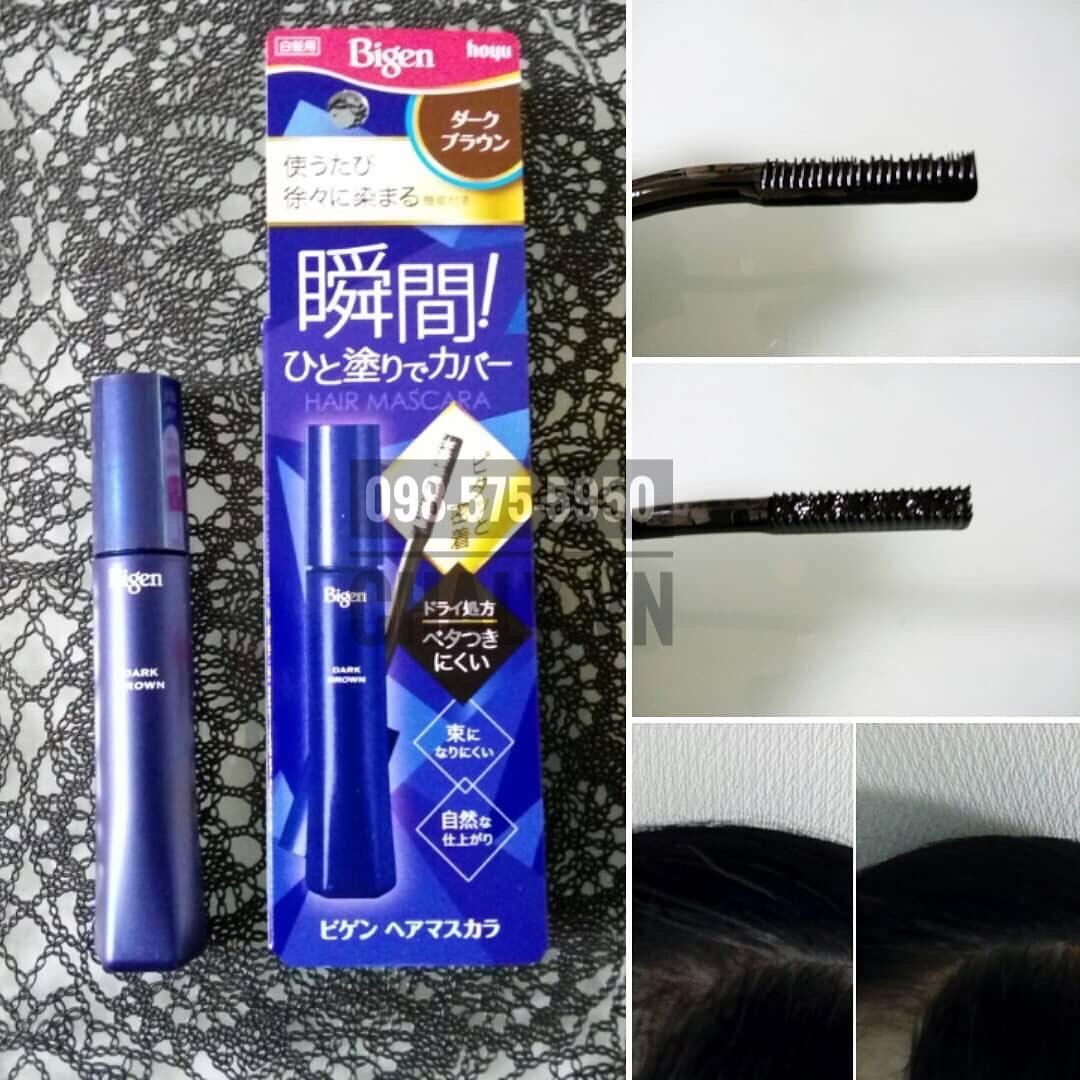 Demo sử dụng son nhuộm tóc tạm thời để chấm phủ bạc cho chân tóc