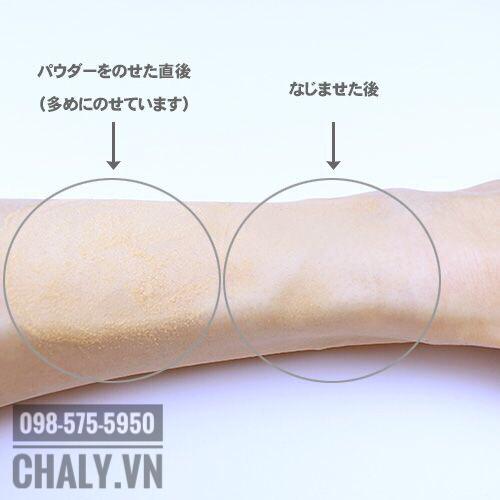 Hạt phấn siêu nhỏ mịn của phấn chống nắng của Nhật Chacott lách sâu vào các lỗ chân lông, che phủ hiệu quả khuyết điểm, giúp nên da siêu sáng và mượt mà