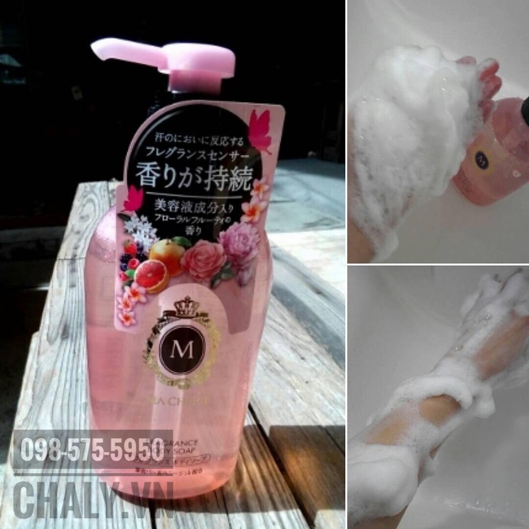 Nên đánh bọt sữa tắm Shiseido Machérie 600ml thật bông mịn khi dùng