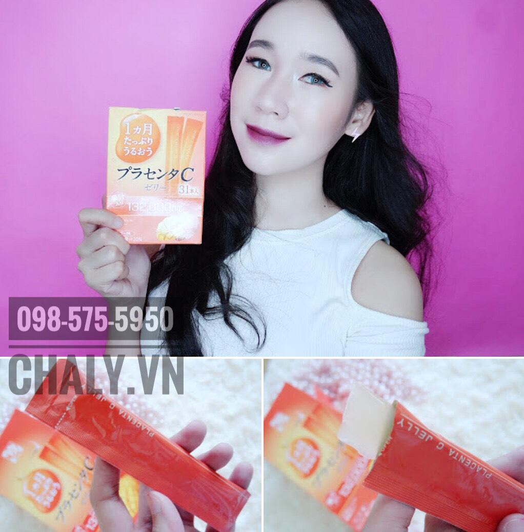 Thạch collagen otsuka skin c japan placenta jelly 132000mg được rất nhiều beauty blogger và chị em Nhật review ưa chuộng