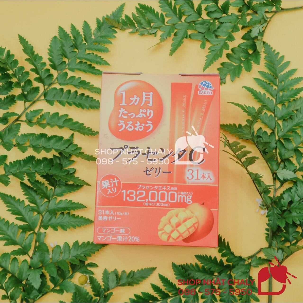 Thạch collagen otsuka skin c japan placenta jelly 132000mg kết hợp giữa collagen, nhau thai và 5 thành phần chống lão hoá cao cấp khác, trẻ hoá da hiệu quả từ bên trong