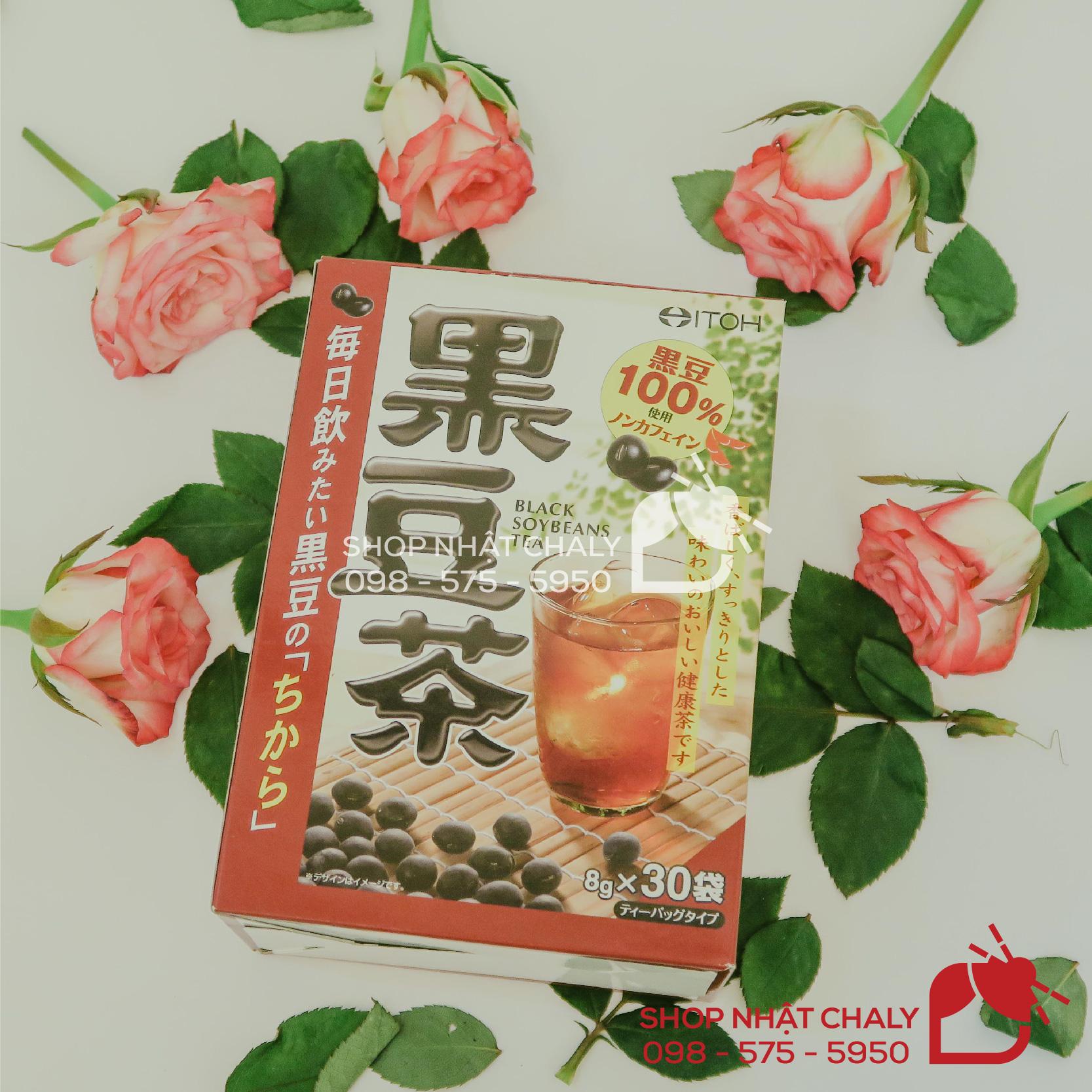 Hộp trà đậu đen của Nhật gồm 30 gói, vị ngon dễ uống