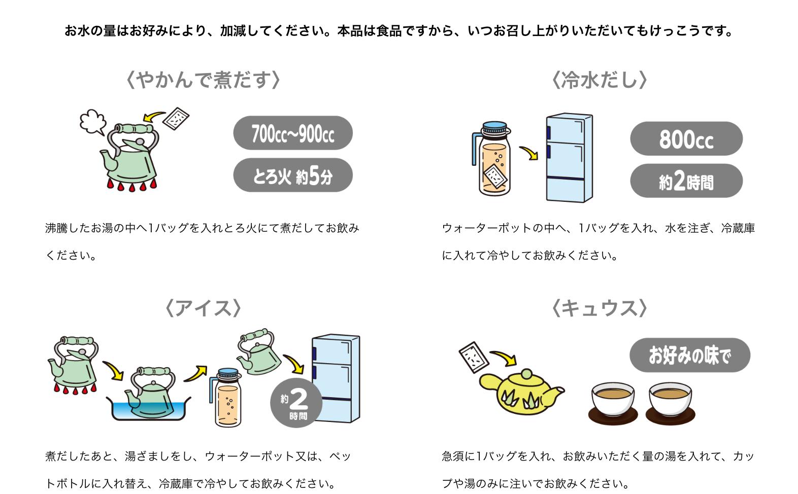 4 cách thưởng thức trà giảm béo Yamamoto 24 gói của Nhật