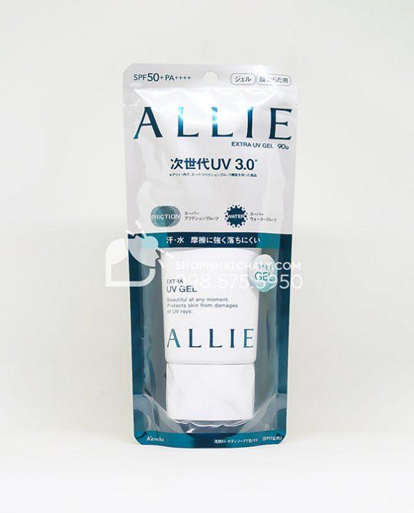 Kem chong nang Allie mau xanh Extra UV Gel 90g Kanebo Nhat mau moi 2021